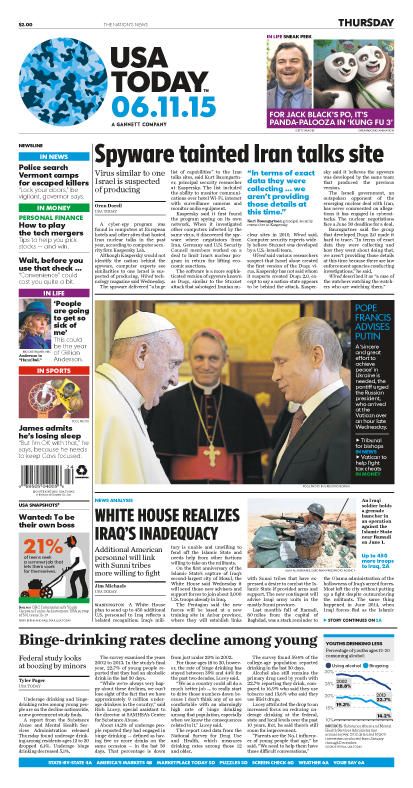 06/11/2015 Issue of USA TODAY
