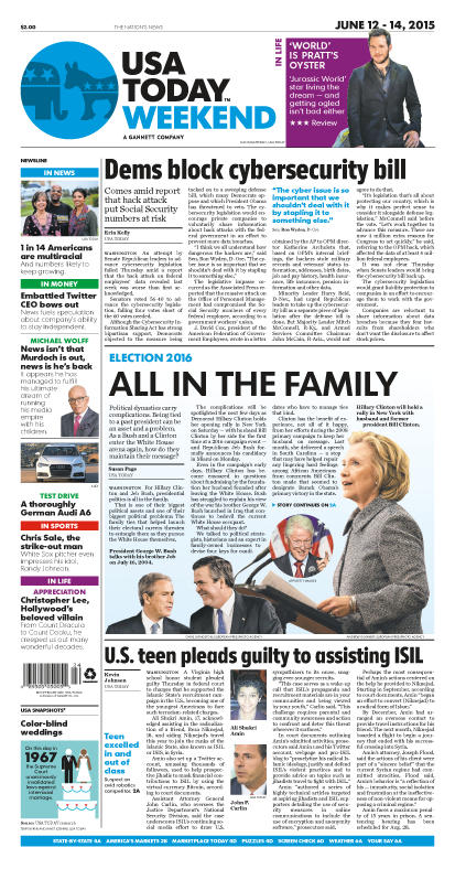 06/12/2015 Issue of USA TODAY