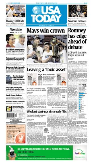 06/13/2011 Issue of USA TODAY