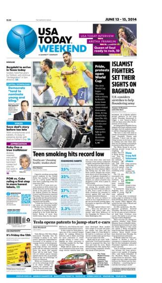 06/13/2014 Issue of USA TODAY