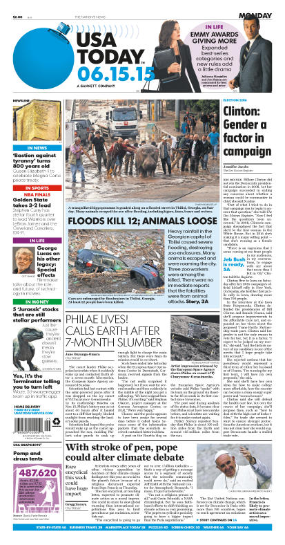 06/15/2015 Issue of USA TODAY