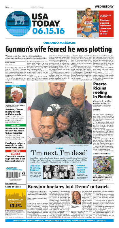 06/15/2016 Issue of USA TODAY