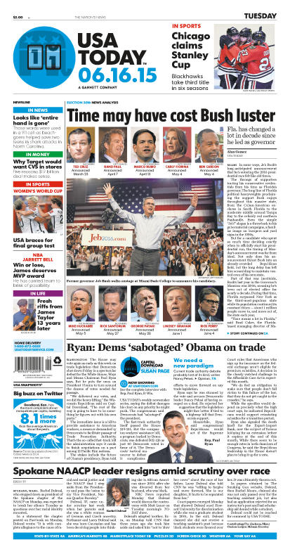 06/16/2015 Issue of USA TODAY