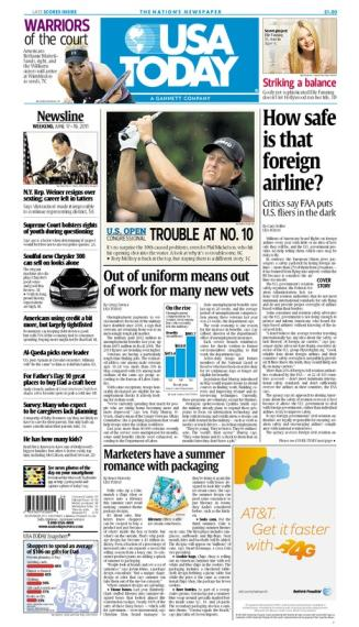 06/17/2011 Issue of USA TODAY