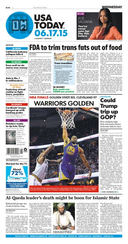 06/17/2015 Issue of USA TODAY