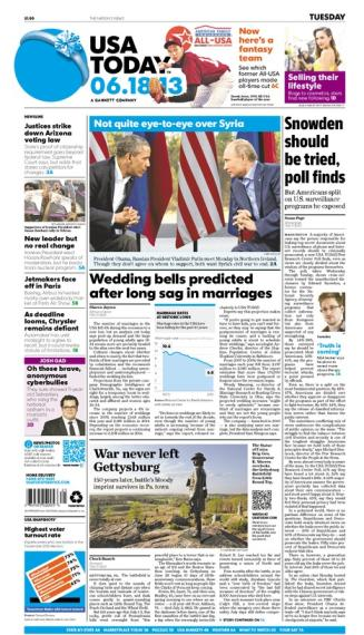06/18/2013 Issue of USA TODAY