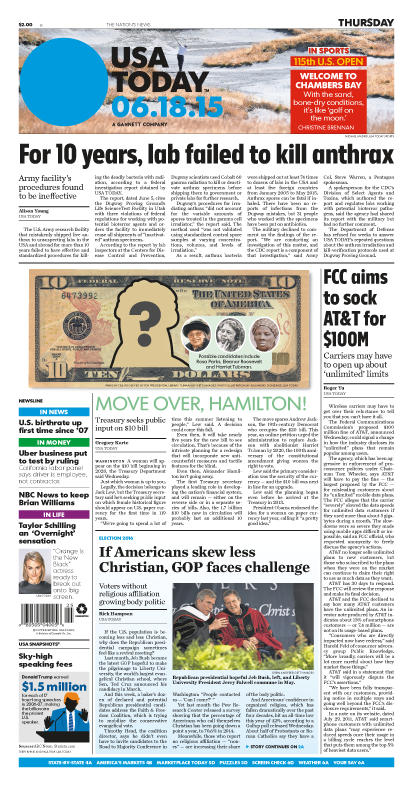 06/18/2015 Issue of USA TODAY