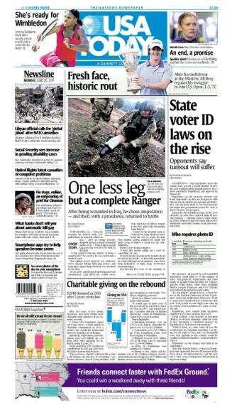 06/20/2011 Issue of USA TODAY