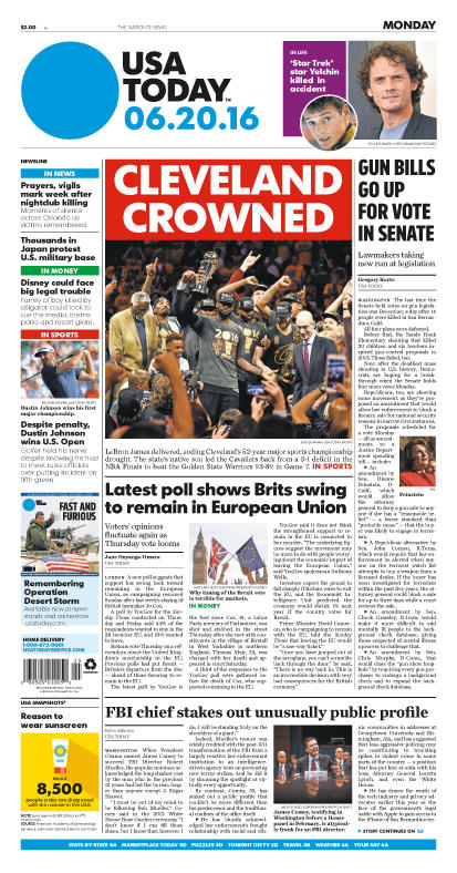 06/20/2016 Issue of USA TODAY