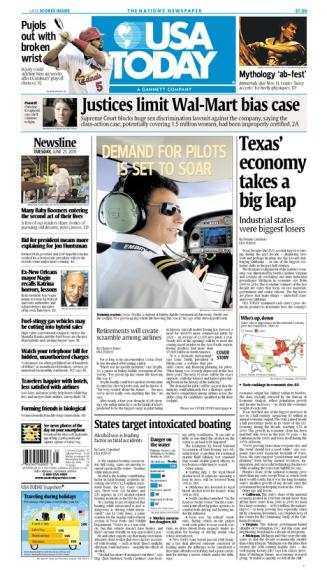 06/21/2011 Issue of USA TODAY