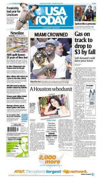 06/22/2012 Issue of USA TODAY