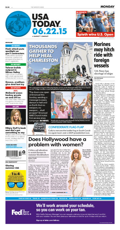 06/22/2015 Issue of USA TODAY