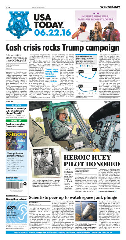 06/22/2016 Issue of USA TODAY