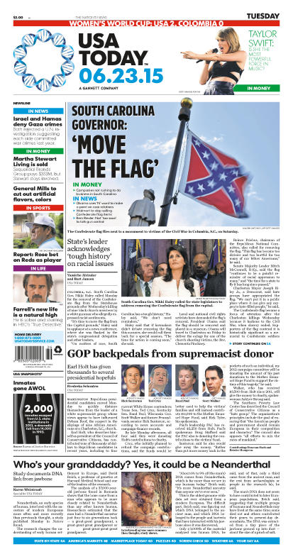 06/23/2015 Issue of USA TODAY