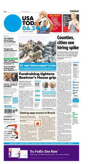 06/24/2014 Issue of USA TODAY
