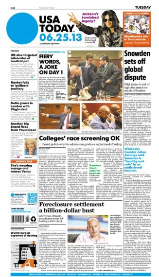 06/25/2013 Issue of USA TODAY