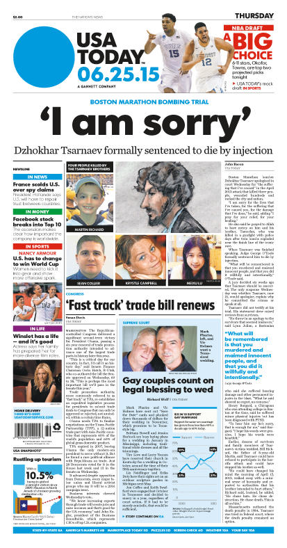 06/25/2015 Issue of USA TODAY