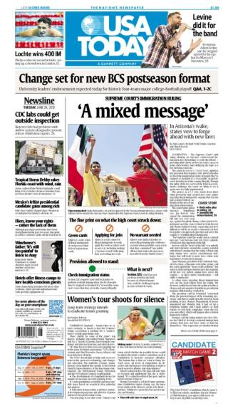 06/26/2012 Issue of USA TODAY
