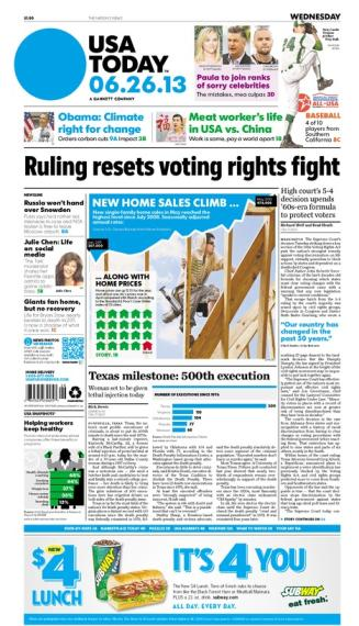 06/26/2013 Issue of USA TODAY