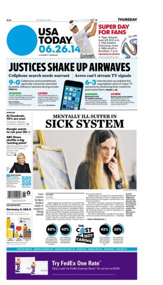 06/26/2014 Issue of USA TODAY
