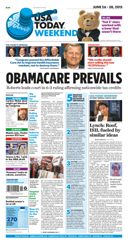 06/26/2015 Issue of USA TODAY