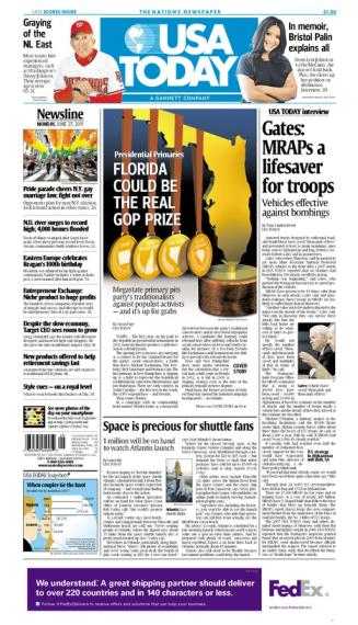 06/27/2011 Issue of USA TODAY