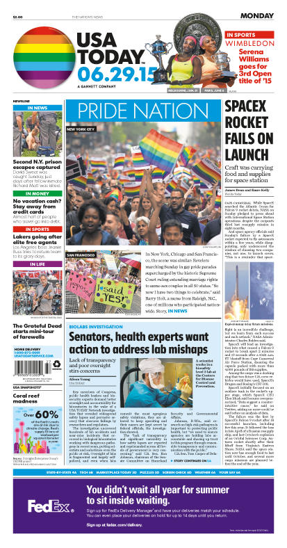 06/29/2015 Issue of USA TODAY