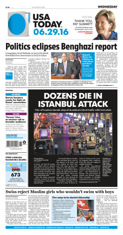 06/29/2016 Issue of USA TODAY