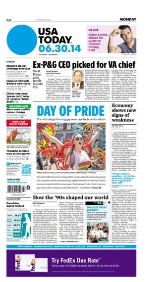 06/30/2014 Issue of USA TODAY