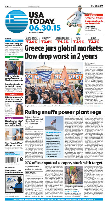 06/30/2015 Issue of USA TODAY