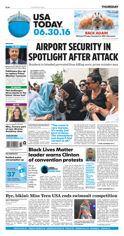 06/30/2016 Issue of USA TODAY