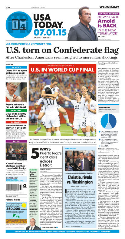 07/01/2015 Issue of USA TODAY