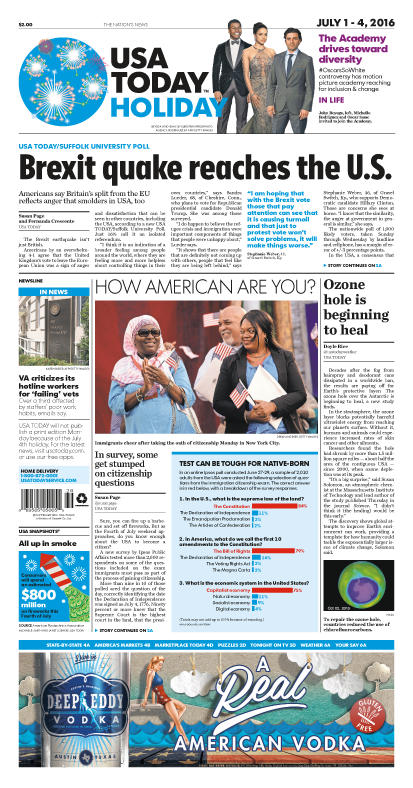 07/01/2016 Issue of USA TODAY