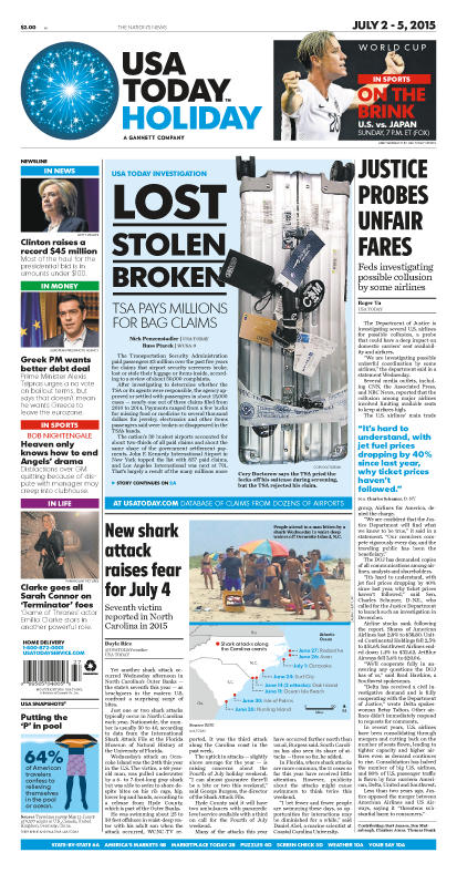 07/02/2015 Issue of USA TODAY