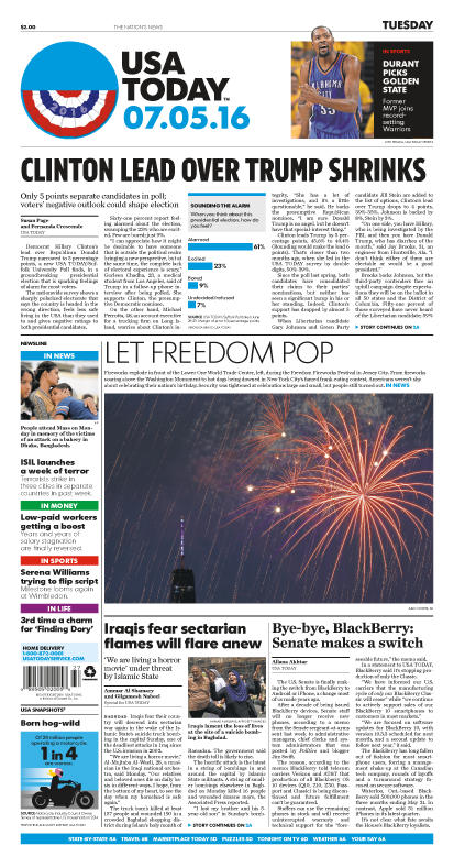 07/05/2016 Issue of USA TODAY