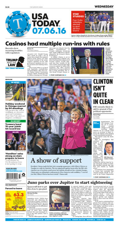 07/06/2016 Issue of USA TODAY
