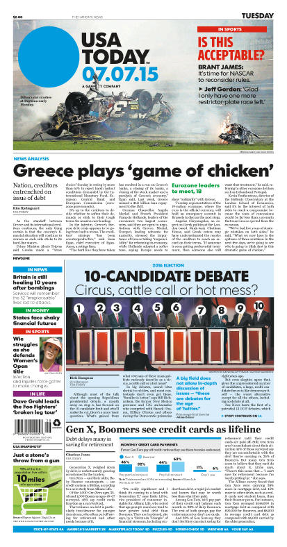 07/07/2015 Issue of USA TODAY