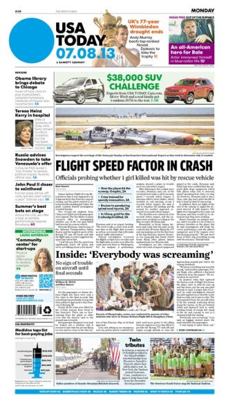 07/08/2013 Issue of USA TODAY