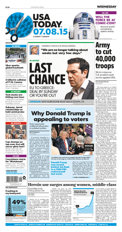 07/08/2015 Issue of USA TODAY