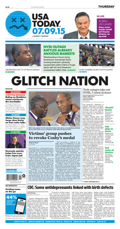 07/09/2015 Issue of USA TODAY