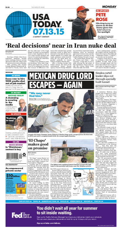 07/13/2015 Issue of USA TODAY