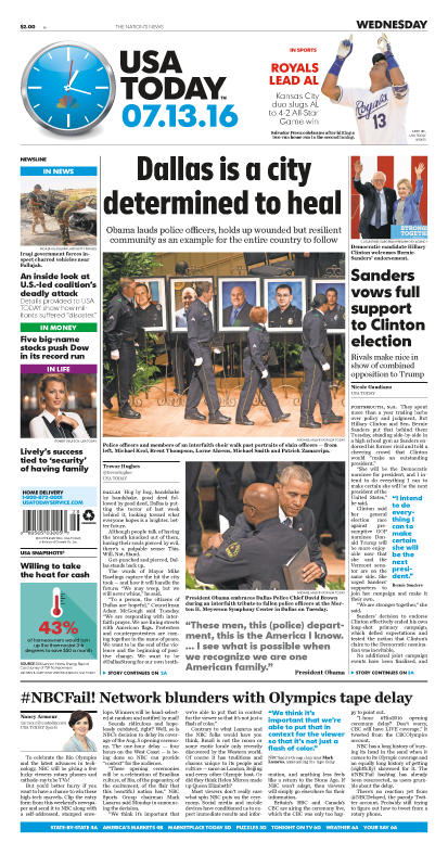 07/13/2016 Issue of USA TODAY_MAIN