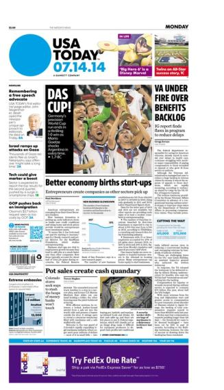 07/14/2014 Issue of USA TODAY