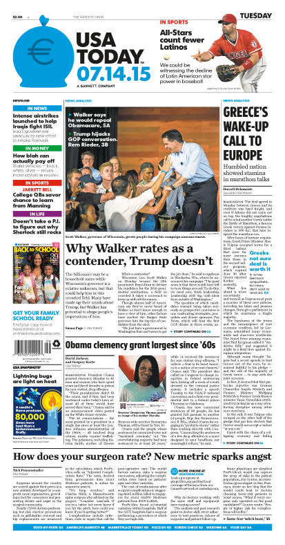 07/14/2015 Issue of USA TODAY