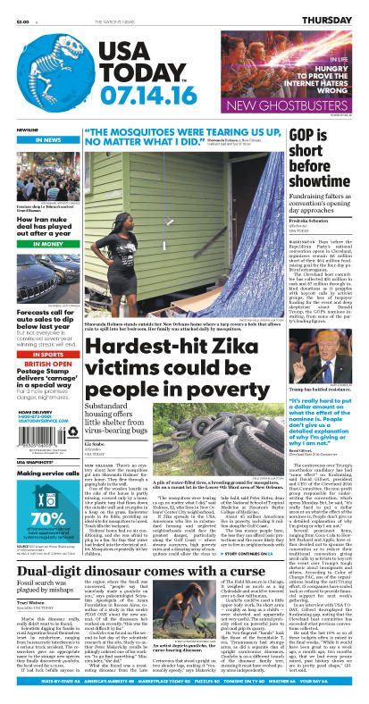 07/14/2016 Issue of USA TODAY