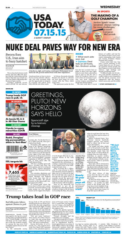 07/15/2015 Issue of USA TODAY