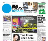 07/16/2013 Issue of USA TODAY