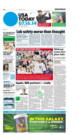 07/16/2014 Issue of USA TODAY