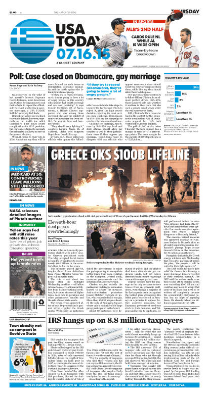 07/16/2015 Issue of USA TODAY