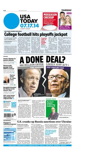 07/17/2014 Issue of USA TODAY